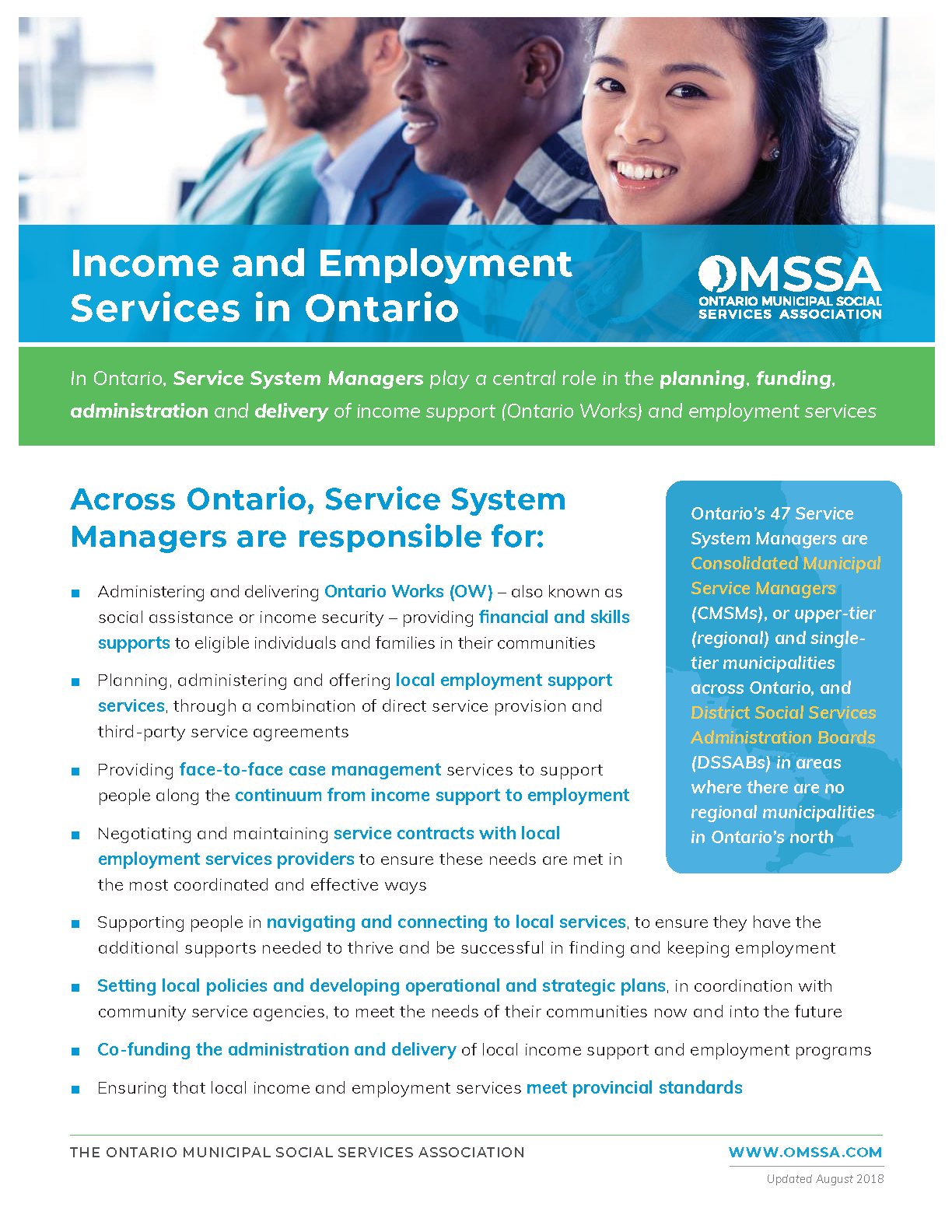Income and Employment Services in Ontario